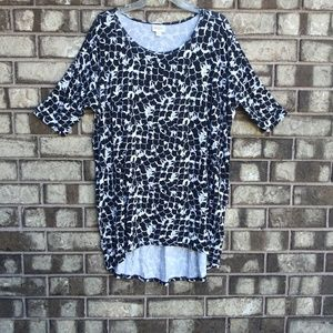 Lularoe brighter black & white top/mini dress SM